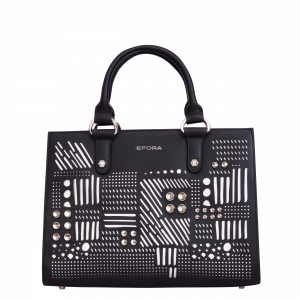 Studded laser cut satchel