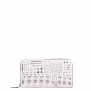 Studded laser cut wallet